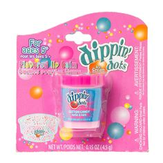 Enjoy the fun and flavor of Dippin' Dots cotton candy ice cream with this flavored Dippin Dots, Chapstick Lip Balm, Cotton Candy Flavoring, Candy Lips, Best Lip Gloss, Flavored Lip Gloss, Nice Lips, Tinted Lip Balm, Lip Stain