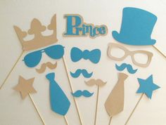 Little Prince Baby Shower Photo Booth Props Baby Shower Little