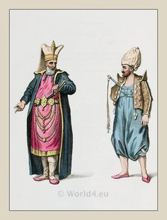 Ottoman Empire Military  Costumes. JANISSARIES.