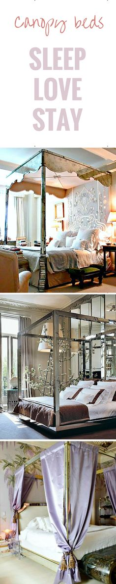 Mirrored Canopy Beds... so romantic!