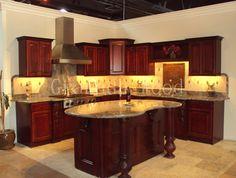 Cherry Wood Cabinets Granada Kitchen