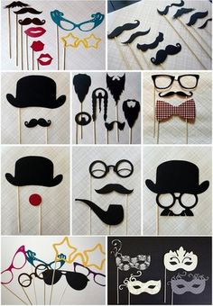 fun props for photo booth at reception