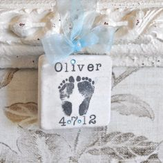 Items similar to Baby Boy Ornament with Footprints - Personalized Baby Shower Gift or Baby Christmas Ornament on Etsy Baby Christmas Ornaments, Christmas Baby, Personalized Baby Shower Gifts, Everything Baby, Baby Feet, Diy Gifts, Baby Boy, Gift Ideas, Footprints
