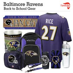 Baltimore Ravens Fans - Pin It to Win It All! You can win a complete back to school NFL prize pack worth over 300 dollars! To enter, pin your favorite NFL Team's Back to School image to win every item in the collage! #FansEdge –Visit http://www.fansedge.com/promotions.aspx?social=pinterest_nfl_pintowin to enter