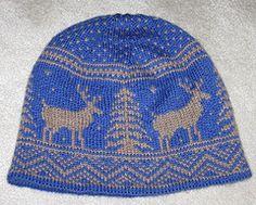 Ravelry: Frolicking Deer Hat pattern by Kat Mcab