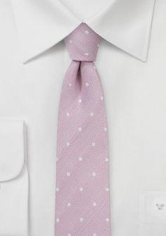 Krawatte rose getupft mit Linnen