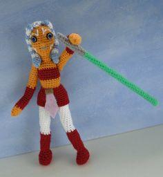 Star Wars crochet pattern: amigurumi doll Ahsoka Tano by #tinyalchemy