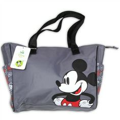 Love this Black & Red Mickey Mouse Diaper Bag by Mickey ...