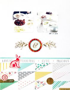 Layout by Jina Using Patterned Pieces