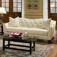 White Sofa I'm too messy to have it but I'm gonna admire it