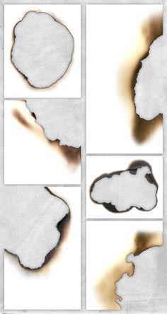 紙が燃えた質感を表現する、無料テクスチャ素材セットBurnt Paper Edges(簡単チュートリアル付)