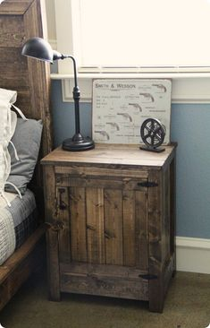 diy wooden nightstand for in the master