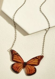 Your outfit sure will take flight when you elevate it with the addition of this monarch butterfly necklace! A statement piece by Beijo Brasil, this USA-made. Butterfly Necklace, Butterfly Pendant, Monarch Butterfly, Cute Necklace, Pendant Necklace, Fashion Necklace, Fashion Jewelry, Shrink Art, Necklace Online