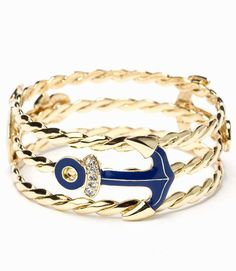 """Lilly Pulitzer """"Anchor's Away"""" bracelet #nautical #lillypulitzer #jewelry"""