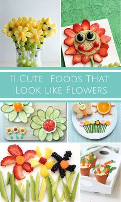 11 Cute Foods for Kids That Look Like Flowers and Plants.