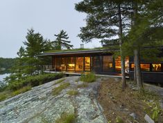 Go Home Cabin, holiday home architecture in Ontario, Canada by Ian Macdonald Architect Nature Architecture, Residential Architecture, Ideas De Cabina, Ontario Cottages, Eco Friendly House, Cabins In The Woods, House And Home Magazine, Green Building, House Design