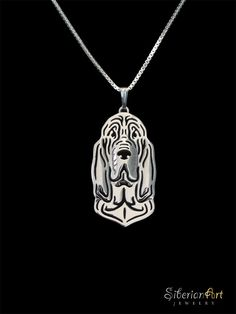 Bloodhound - sterling silver, dog jewelry - pendant and necklace by SiberianArtJewelry on Etsy https://www.etsy.com/listing/100818539/bloodhound-sterling-silver-dog-jewelry