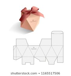 Box Template: imagens, fotos e vetores stock | Shutterstock Diy Gift Box, Diy Box, Diy Gifts, Gift Boxes, Paper Gifts, Diy Paper, Paper Crafting, Jewelry Packaging, Box Packaging