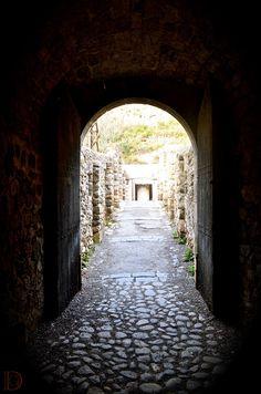 Architecture - The shadow-light portal. Le portail ombre-lumière. Villefranche de Conflent, France. ©Dorian Garnier