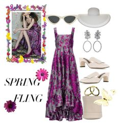 """Chic flowers spring"" by choupi70nette ❤ liked on Polyvore featuring CO, Sergio Rossi, Simon Miller, Nine West, Le Specs and springdresses"