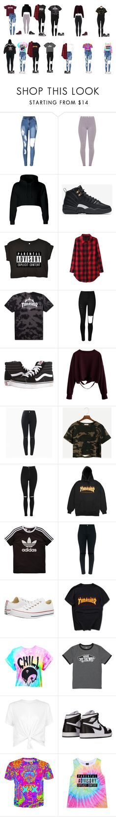 """""""Back to school """" by monika-lopez on Polyvore featuring NIKE, Vans, Topshop, adidas Originals and Converse"""