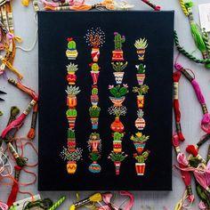 Flower Paradise: Bright Embroidery by Walker Boyes - Livemaster - original item, handmade