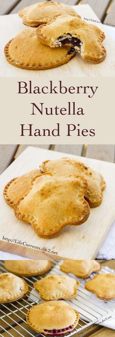 Blackberry Nutella Hand Pies - a great combination of flavors inside a fun to eat hand held little package! Great for back to school!