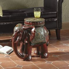 Elephant Table From Midnight Velvet. Faux Bamboo And Carved Resin Table Has  Glass Top.   New Arrivals   Pinterest   Resin Table, Faux Bamboo And Resin