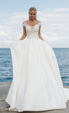 Courtesy of Oksana Mukha Wedding Dresses; www.oksana-mukha.com; Wedding dress idea.