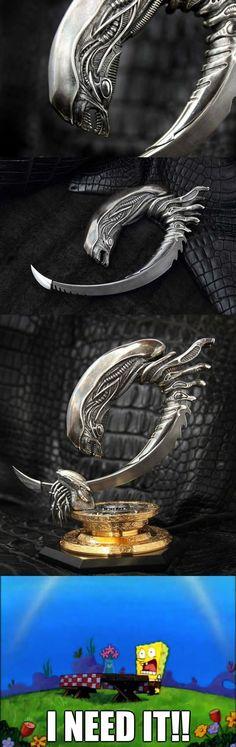 Alien Inspired Knife Design - www.meme-lol.com