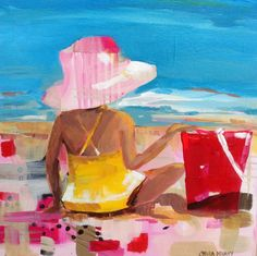 Items similar to Girl at the beach. on Etsy Original Paintings, My Arts, Heart, Unique Jewelry, Handmade Gifts, Artist, Etsy, Vintage, Kid Craft Gifts