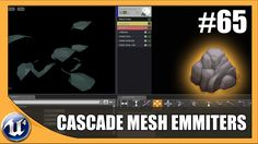 UE4, Cascade Mesh Emmiters - we look at how we can use mesh emmiter data to spawn 3D models/meshes into our particle system, We also go over how we can use the same models for sprites emmiters to control the behaviour of our mesh emmiter
