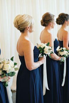 Navy Ontario Golf Club Wedding – Style Me Pretty