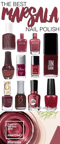 Pantone named 2015 Color of the Year! It is Marsala! If you are looking to get on this color trend, I have put together The Best Marsala Nail Polish! - My Newest Addiction Beauty Blog