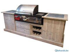 Buitenkeuken van steigerhout met Boretti BBQ