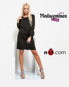 Yaka Taşlı Siyah Elbise  ✔Siyah Tutkunlar Cesur Sitiller Yaratmaya Devam Edin!  ☛Hemen İnceleyin: http://www.modafeminen.com #Yeni #Elbise #Giyim #Moda #Alisveris