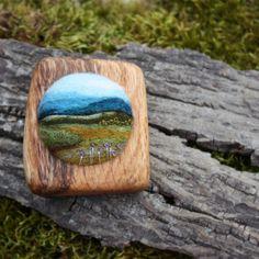 hillside brooch   A new brooch I've made by needle-felting w…   Flickr