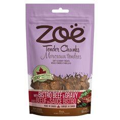 Zoe Tender Chunks Beef & Gravy Dog Treats 5.3 oz