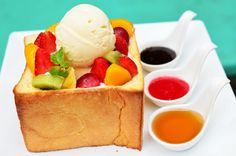 Mix Honey Toast at Mix Restaurant Chaing Mai Thailand