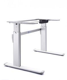 Zenith Winding Handle Height Adjustable Desk Frame.  http://www.heightadjustabledesks.com/prod/105/zenith--winding-height-adjustable-desk-frames