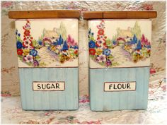 lovely cottage canisters
