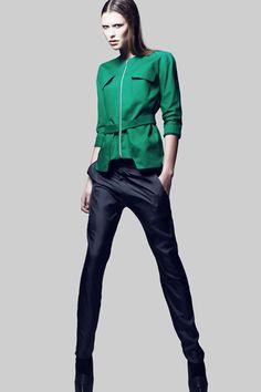 Elsien Gringhuis green jacket