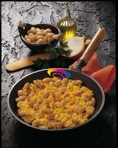 Fagioli con uova strapazzate   Cucinare Meglio