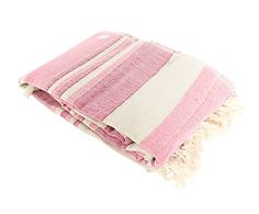 Plaid multiusos en algodón, rosa - 240x235 cm