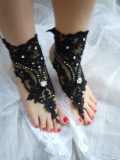 Hey, I found this really awesome Etsy listing at https://www.etsy.com/listing/242984123/black-lace-sandals-barefoot-sandals