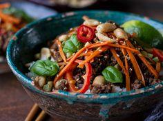 Basil Beef Lemongrass Rice Bowls | Quick Recipes