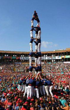 스페인 인간탑 쌓기 경연대회