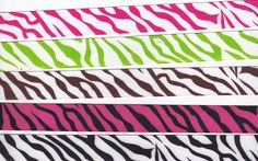 5 Different Zebra Print Ribbons by countrycroppers on Etsy, $4.99