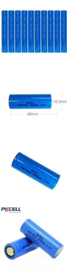 Batteries and Power Accessories: 50 Pack 18500 1400Mah 3.7V Li-Ion Rechargeable Batteries For Torch Falshlight -> BUY IT NOW ONLY: $133.99 on eBay!