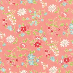 Vintage Picnic Coral Playful Yardage by Bonnie & Camille for Moda